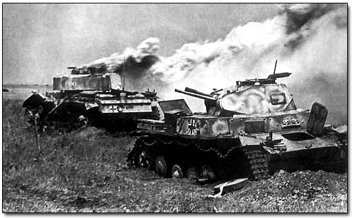German Tanks Destroyed at Olkhovatka