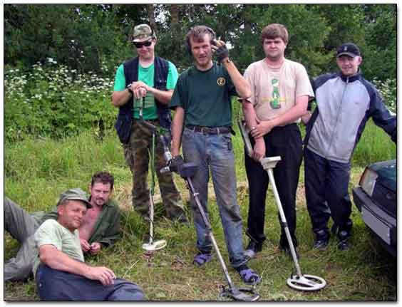 Group Of Russian Treasure Hunters