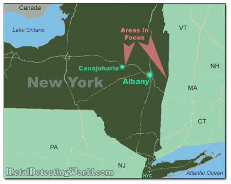 Map Of Upper State New York.Metal Detecting In Upstate New York Story 7