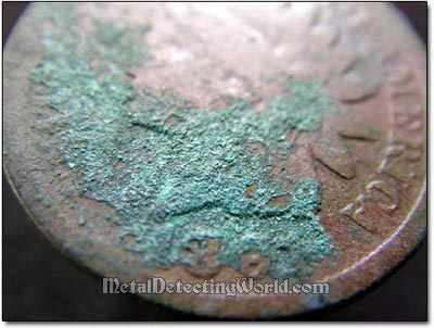True and False Patina on Copper-Base Alloyed Coins