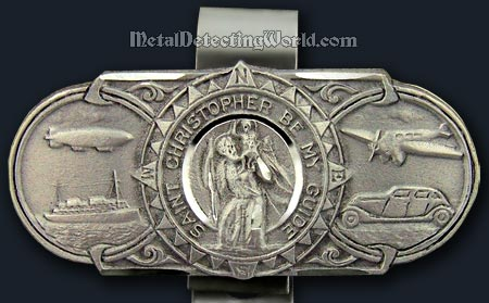 Vintage St Christopher Car Badge Vehicle Parts & Accessories